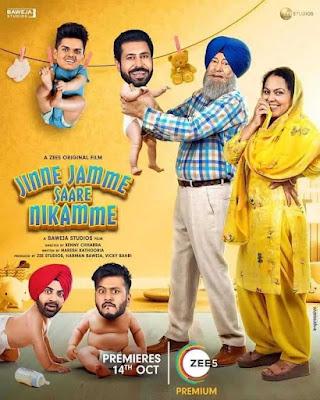 Jinne Jamme Saare Nikamme (2021) Punjabi 720p | 480p HDRip ESub x264 1Gb | 400Mb