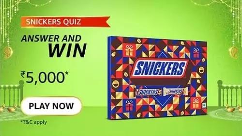 Amazon Snickers Quiz