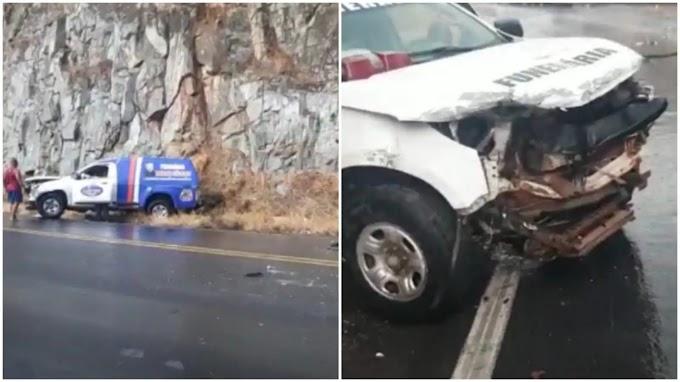Carro de funerária de Patos que iria buscar corpo de caminhoneiro de Malta se envolve em acidente na Bahia