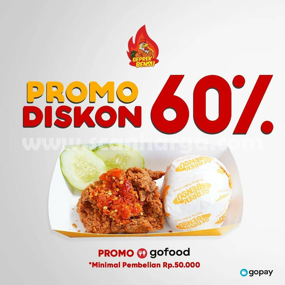 PROMO GEPREK BENSU GOFOOD– DISKON hingga 60%