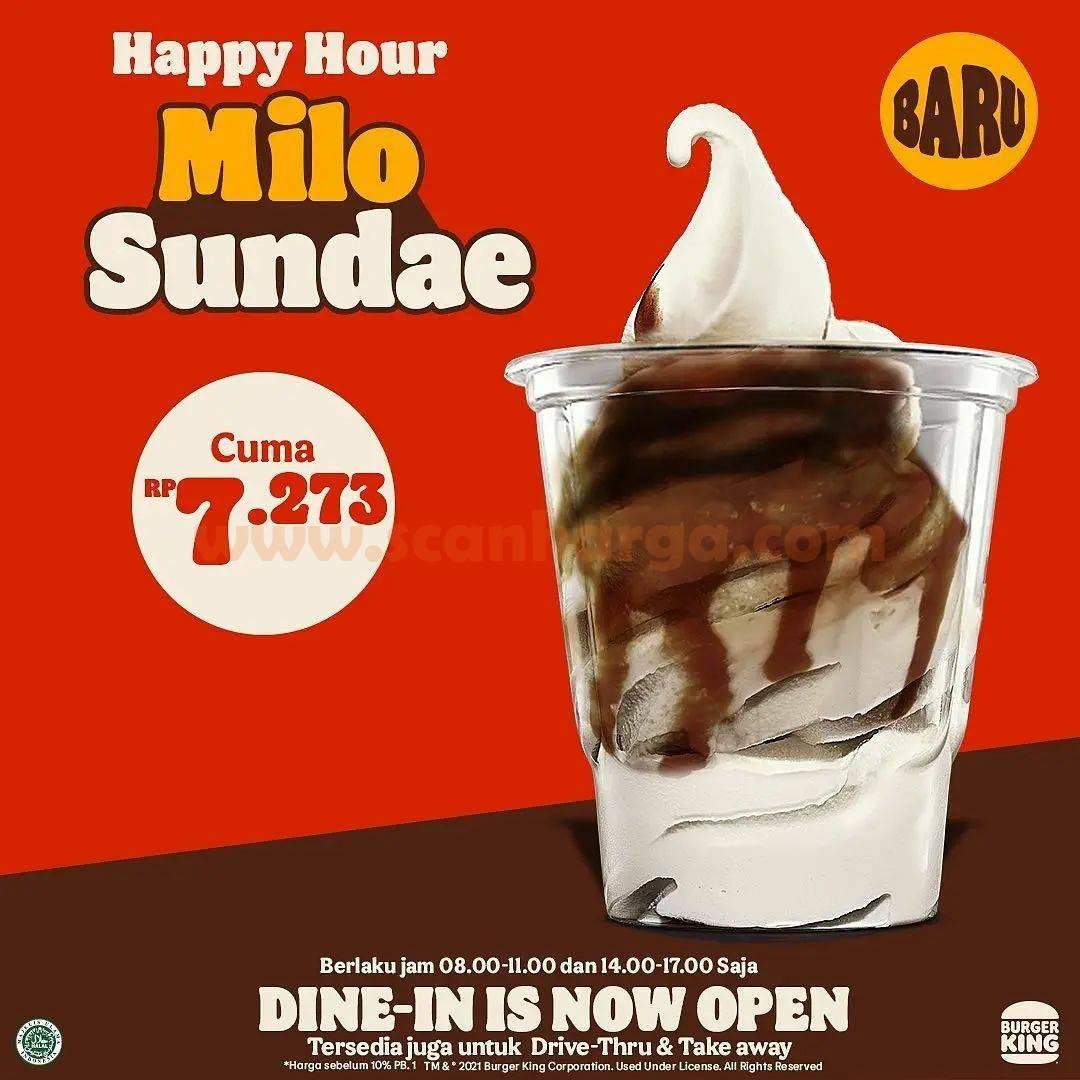 Promo Burger King Happy Hour Milo Sundae harga cuma Rp. 7.273
