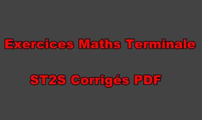 Exercices Maths Terminale ST2S Corrigés PDF