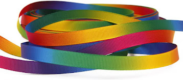 Rainbow Grosgrain Ribbons for Accessories