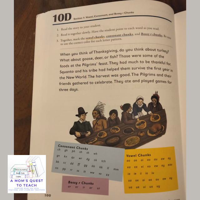 A Mom's Quest to Teach:  Building Spelling Confidence: A Review of Spelling You See - Level D - student workbook showing chunking
