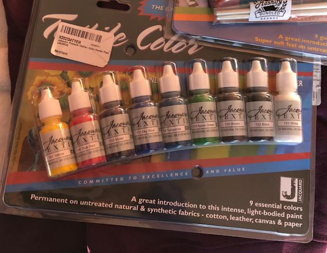 "Photo of Jacquard Textile acrylic paints ""Exciter Pack"" assortment"