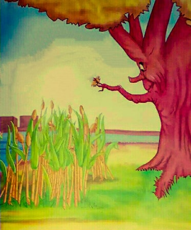 Oak Tree And Reeds Story