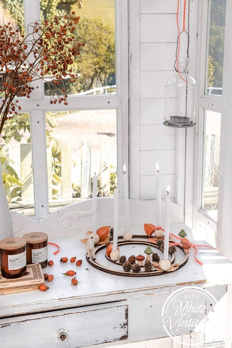 Herbstkranz im skandinavischen Stil selbermachen