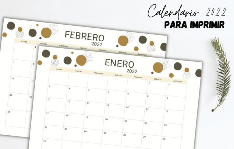 Calendario gratuito 2022