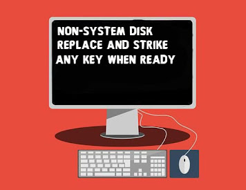 Fix Non System Disk | Replace and Strike Any Key When Ready