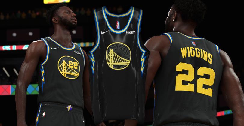 NBA 2K22 2021-22 Golden State Warriors Official City Jerseys - by Cheesyy