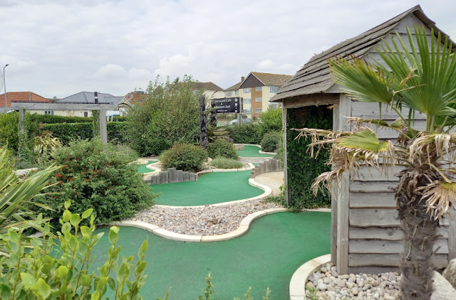 Adventure Golf at the Greensward Cafe in Clacton-on-Sea