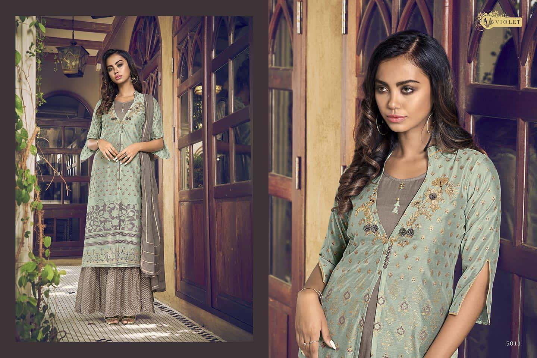 Violet Series 5001 To 5012 Designer Salwar Suits Catalog Lowest Price
