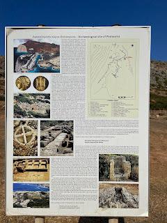 Informational sign at Ancient Falassarna site.