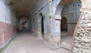Aptera three-vaulted cistern.