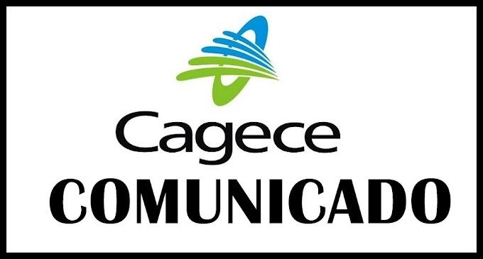 Comunicado da Cagece aos moradores de Cariré