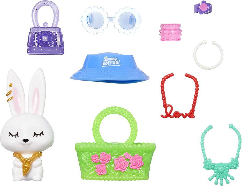Кролик и аксессуары куклы Барби Экстра №12