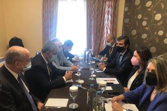 Συνάντηση Ολυμπίας Τελιγιορίδου με τον Πρόεδρο του Κοινοβουλίου του Ισραήλ,   κ. Mickey Levy