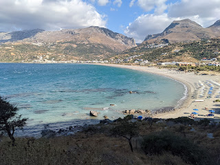 View of Plakias from the nearby cape.