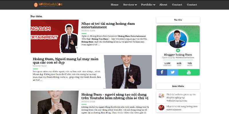 Mẫu website blog cho cá nhân miễn phí