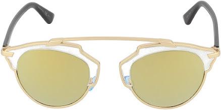 Gold Dior Cat Eye Sunglasses