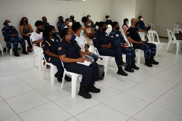 Em Alagoinhas, agentes da Patrulha Maria da Penha recebem capacitação da Secretaria Estadual de Políticas para as Mulheres
