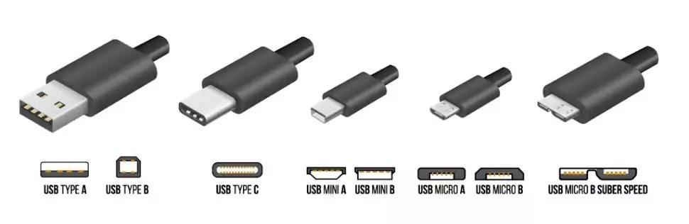 tipe tipe kabel USB yang pernah di pergunakan di dunia