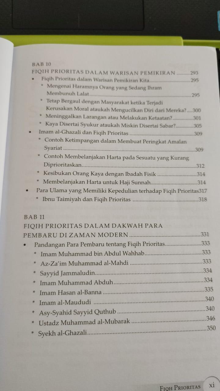 Daftar isi buku Fiqh Prioritas - Dr. Yusuf Al Qaradhawi (5)