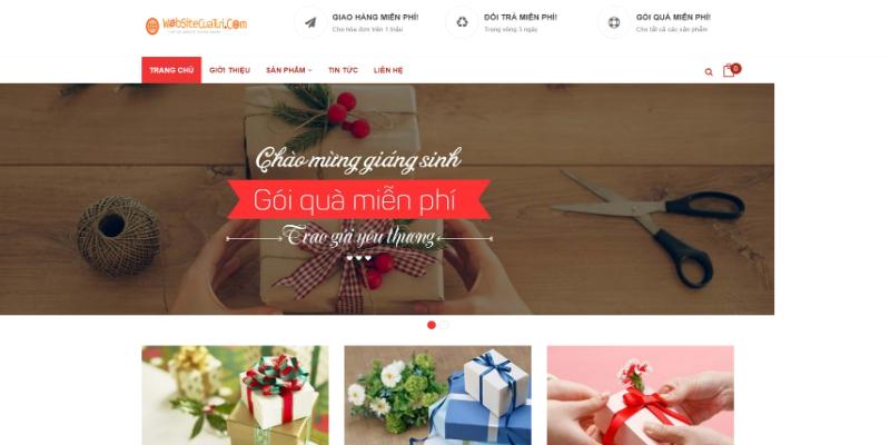 Mẫu website bán quà tặng đồ lưu niệm