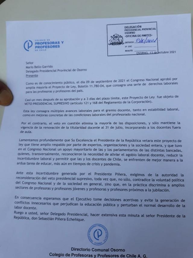 Paralización del Colegio de Profesores de Chile