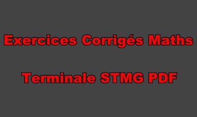 Exercices Corrigés Maths Terminale STMG PDF