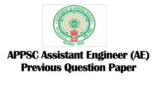 APPSC AE Previous Question Paper PDF Download