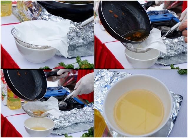 2 cách làm sạch cặn dầu ăn đã chiên giúp dầu cũ trong như mới