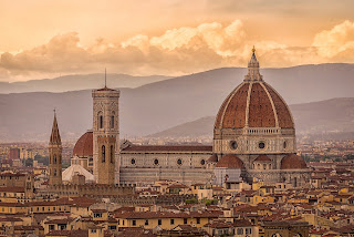 The Florence duomo dominates the skyline of Italy's beautiful Renaissance city