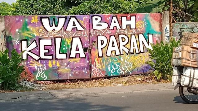 Marak Mural Bernada Kritik di Tangerang, Terbaru 'Wabah Sesungguhnya Adalah Kelaparan'