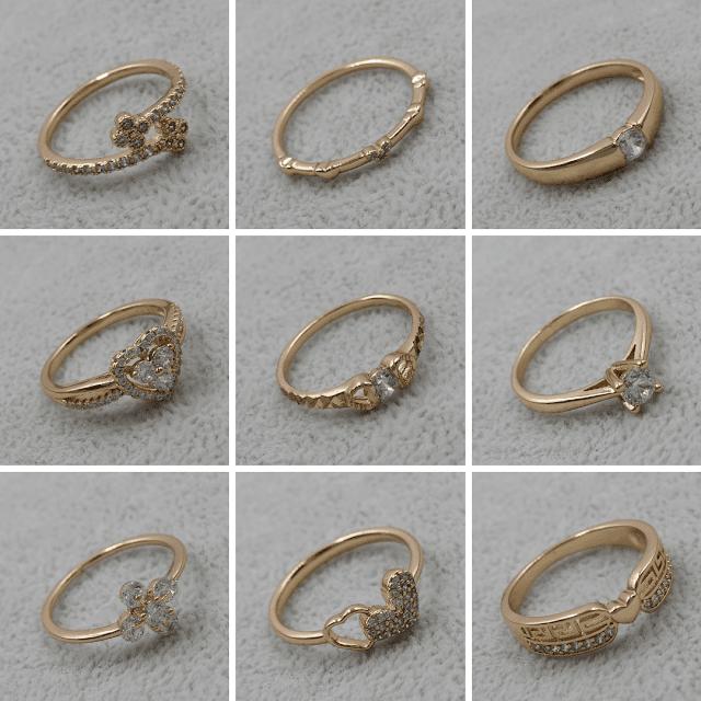 Колечки Позолота/Мед Золото Xuping Jewelry ™ B2B