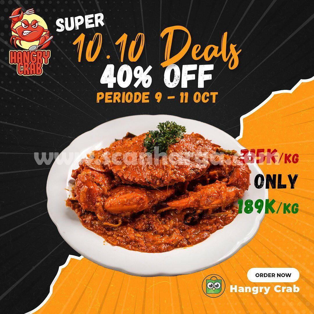 Promo Hangry Crab 10.10 Super Deals 40% Flash Sale Kepiting