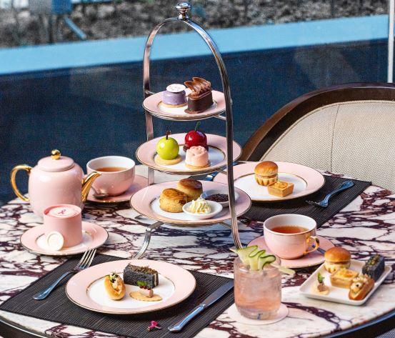 Marriott Bonvoy Hotels, Estée Lauder Companies Malaysia, Breast Cancer Awareness Month, Hi Tea, St. Regis KL, Le Méridien KL, Four Points, Food