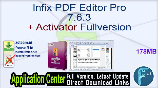 Infix PDF Editor Pro 7.6.3 + Activator Fullversion