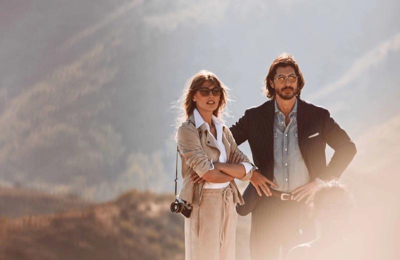 Madison Headrick and Ryan Porter star in Brunello Cucinelli x Oliver Peoples eyewear campaign.