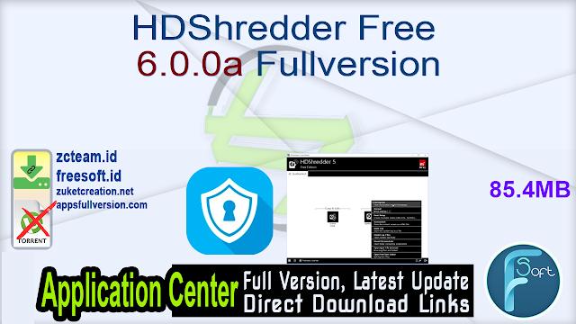 HDShredder Free 6.0.0a Fullversion