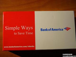 Bank of America checkbook