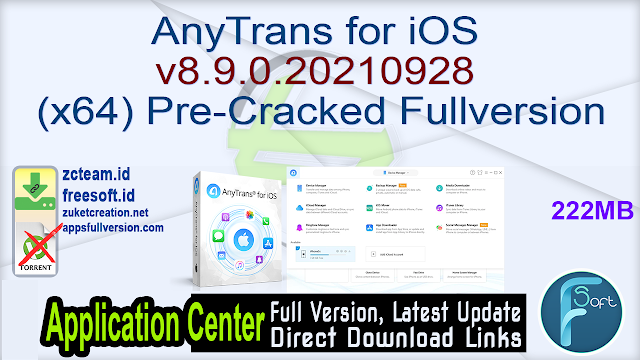 AnyTrans for iOS v8.9.0.20210928 (x64) Pre-Cracked Fullversion