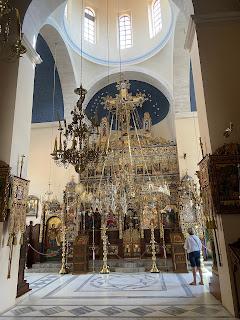 Inside of the church of Agia Triada Monastery.