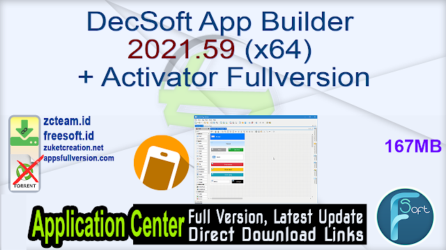 DecSoft App Builder 2021.59 (x64) + Activator Fullversion