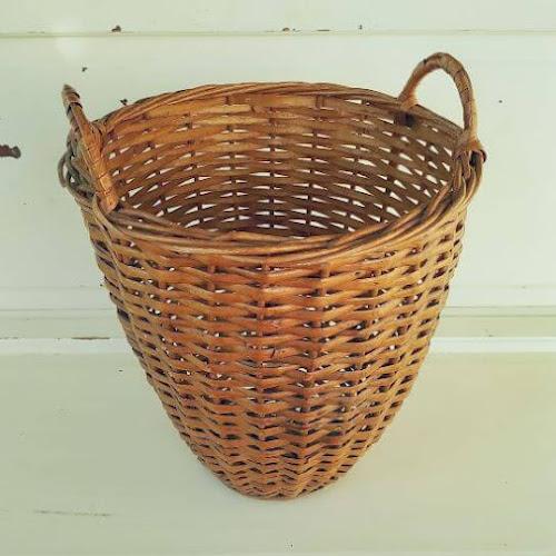 DIY Bleached Basket Pendant Light - Thrift Shop Flip