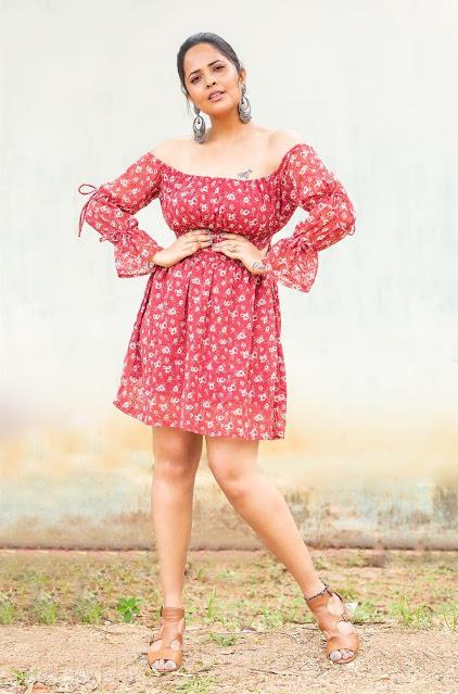 Anchor Anasuya Bharadwaj Latest Stills in Sexy Skirt Navel Queens