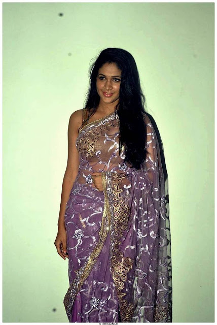 Actress Lavanya Tripathi Latest Cute Stills In Saree Navel Queens