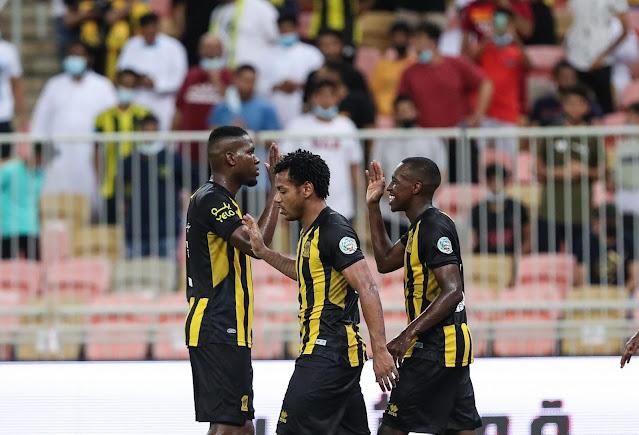 اهداف مباراة الاتحاد والرائد (3-0) الدوري السعودي