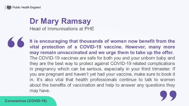 Mary Ramsey encourages pregnant women to come forward for vaccination