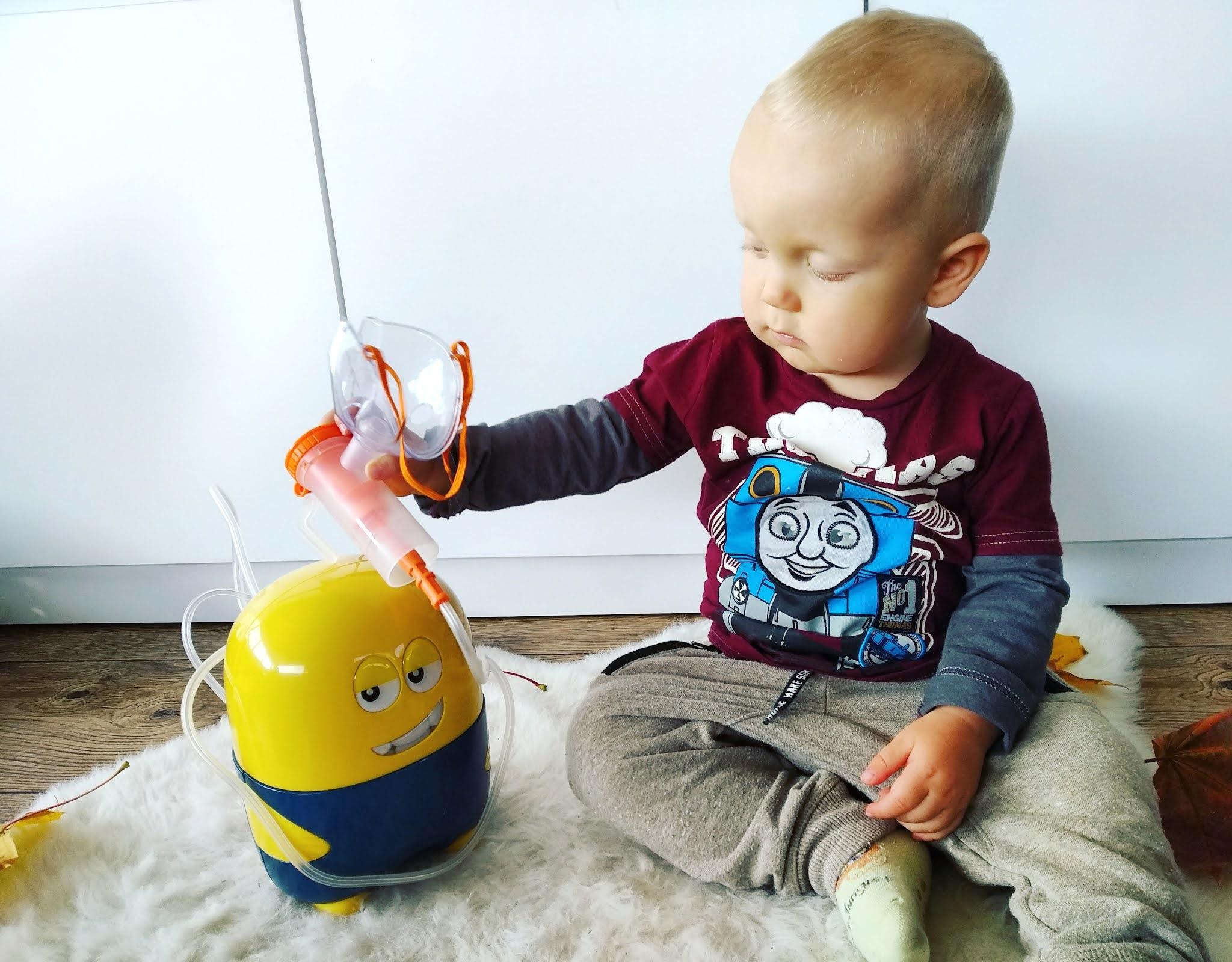 Inhalator NIKONEB w kształcie Minionka - specjalista ds. rozweselania chorego maluszka!